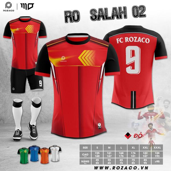 Mẫu áo bóng đá không logo đẹp nhất RO-SALAH 02 Tại Huyện Minh Hóa Tỉnh Quảng Bình