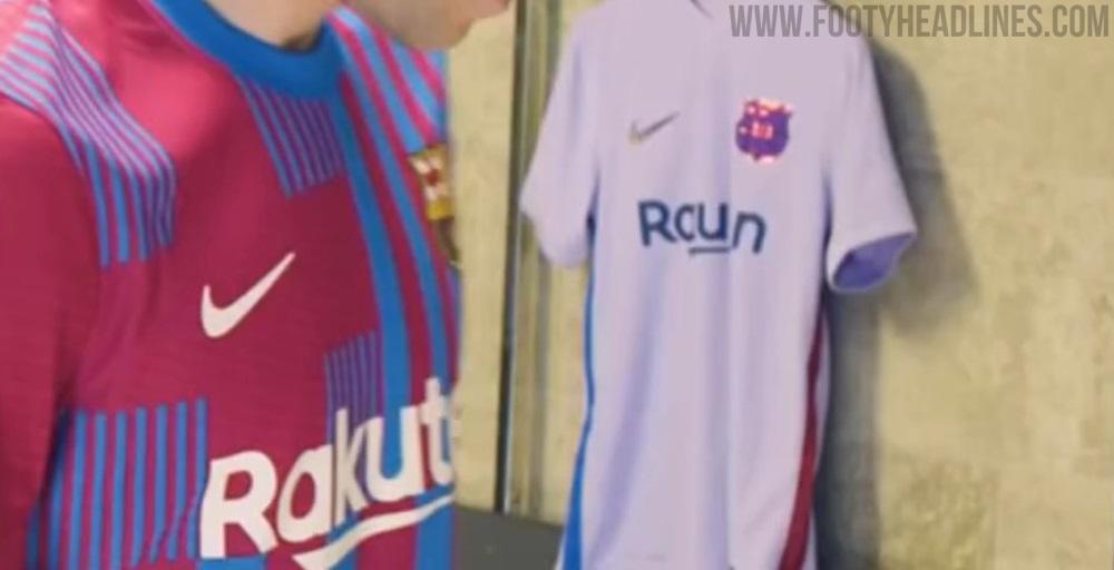FC Barcelona 21-22 Bộ dụng cụ sân khách bị rò rỉ